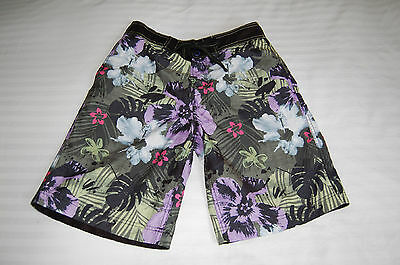 Mens SMALL NEXT beach board surf swim shorts trunks FLORAL