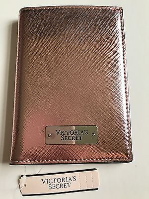 Nwt Authentic Victoria's Secret Passport Holder Cover Travel Id Case Rose Gold