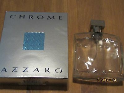 empty parfum bottle AZZARO CHROME