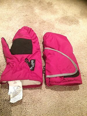 Pink Insulated Waterproof Mittens Kids Age 7-8