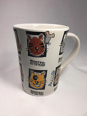 Cat Mug Shots Coffee Tea Mug Cup Signature Housewares Wanted Kitty