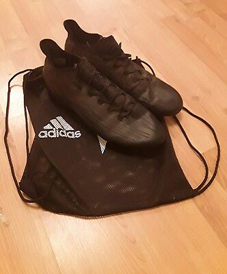 Size 10 Adidas X 16.1 Blackout Football boots (lace loop snapped)
