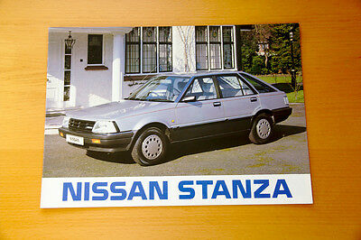 Nissan Stanza Brochure  - Retro Japanese Car Leaflet