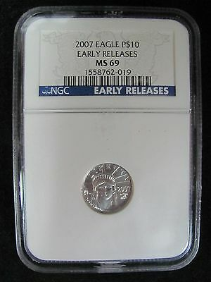 2007 United States Platinum 1/10 Eagle NGC MS69 - Early Releases!
