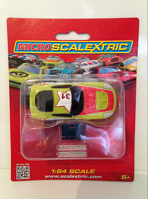 Scalextric Micro G2160 GT Car Green 31 1:64 Scale NEW