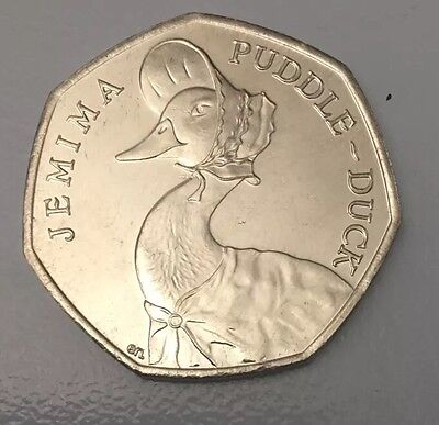 2016 Jemima Puddleduck Beatrix Potter 50p Fifty Pence Coin Brilliant