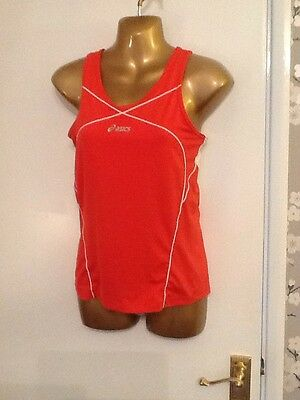 Womens ASICS Top Size S Ladies gym training, yoga, dance, running, sports