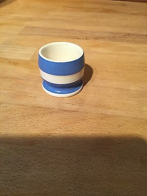Vintage blue and white egg cup
