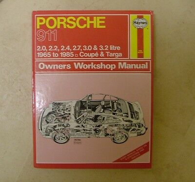 Haynes Owners Worksop Manual no 264 Porsche 911 Coupe Targa 1986