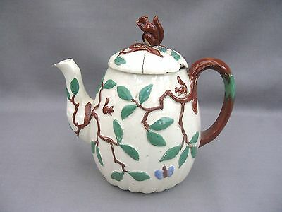 A wonderful 1880 Minton Squirrel teapot or chocolate pot - for restoration