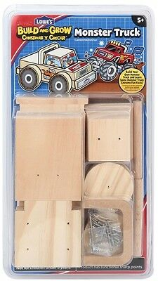 Build and Grow Kid's Beginner Build and Grow Monster Truck Project Kit Customize