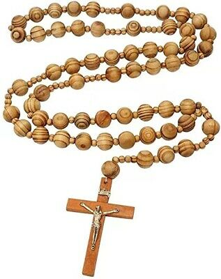 12 x Wholesale Bulk Wooden  Rosary Necklace for Baptism, Wedding, Memorial
