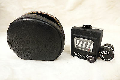 Vintage Asahi Pentax Prism Mounted Meter for Pentax SV, S1a. with genuine case