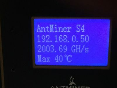 Bitcoin Antminer S4 2000GHS / 2THS