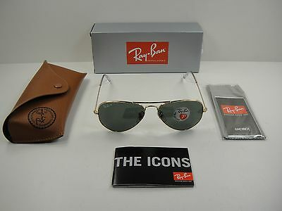 f0efd0c7242 RAY-BAN AVIATOR POLARIZED Sunglasses Rb3025 001 58 Gold g-15 Xlt ...