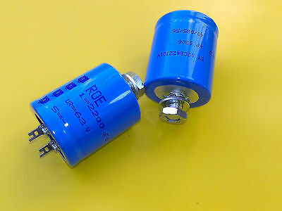[2 pcs]  .ROE 2200uF/63V Electrolytic Stud Mounting Capacitors Long Life 15000h