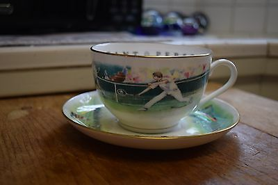 "ROYAL WORCESTER VIP Very Important Person ""Tennis""Oversized Cup&Saucer"