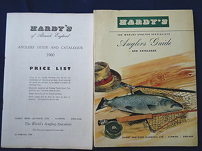 Vintage Hardy Advertising Fishing Catalogue Anglers Guide For 1960 + Price List