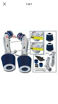 BLUE Cold Air Intake Short Ram Fit For 09-15 Nissan 370z 08-13 G37