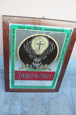 JAGERMEISTER grande specchio pubblicitario originale  mirror advertising genuine