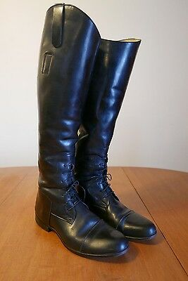Lace up Leather English or Dressage Riding Boots size 7.5 / 9.5