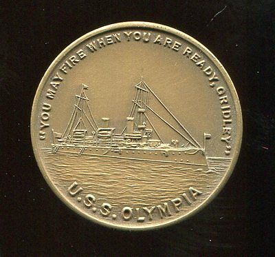 ** U.s.s. Olympia -  Philippines Token Made Of Parts **