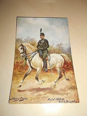 EARLY 1900s HARRY PAYNE PC - FIELD OFFICER RIFLE BRIGADE - VGC