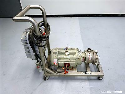 Used- Fristam FZX Series Sanitary Liquid-Ring Pump, Model FZX150, 316 Stainless