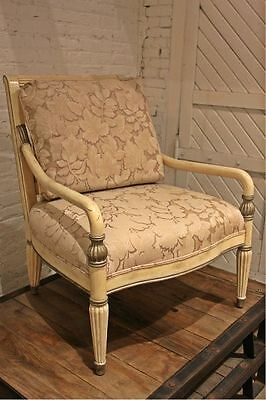 Bernhardt Neoclassic Chair in White with Silver Accents