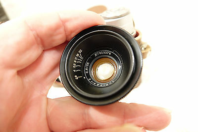 LEICA M39 SCREW FIT RUSSIAN JUPITER-12 35mm f2.8 WIDE ANGLE LENS WITH CAMERA