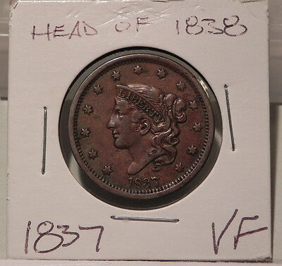 1837 Large Cent, Head of 1838