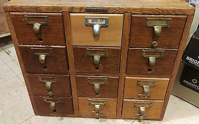 Vintage Dovetail library card catalog cabinet