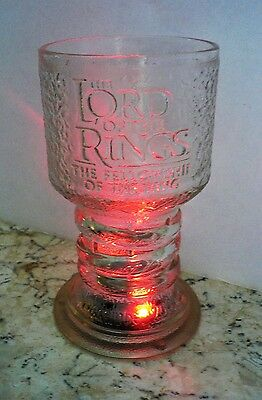 Lord of the Rings - ARWEN ELF- Glass Goblet  Fellowship - LIGHTS UP Original Box