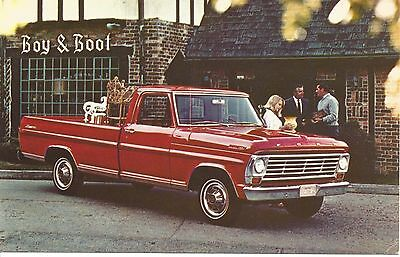 * 1967 Ford F-100 Ranger Pickup Postcard Excellent Condition