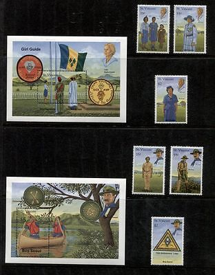 SCOUTS AND GUIDES OF St. VINCENT **************** COMPLETE MINT SET