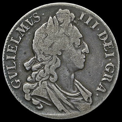 1696 William III Early Milled Silver Octavo Crown – First Bust