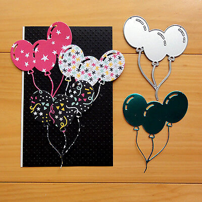 Shopaperartz BUNCH OF BALLOONS BIRTHDAY CUTTING DIE FITS SIZZIX CUTTLEBUG