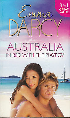 Mills & Boon 3 In 1 : Emma Darcy - Australia : In Bed With A Playboy - Paperback