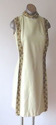 Vintage 60's Silk Dress with Beading