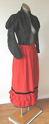 Antique  Victorian 2pc Women`s Top Skirt Outfit Dress for Study or display