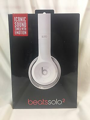 NEW Beats by Dr. Dre Solo2 Wired Headband Headphones - White