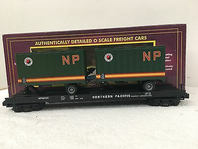 Mth Northern Pacific Flat Car w/ 20' Trailers