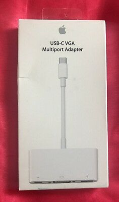 NEW SEALED Genuine Official Apple USB-C VGA Multiport Adapter cable MJ1L2ZM/A