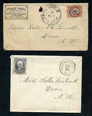 Two NH Covers Including a Rare Profile House Fancy PAID Skinner-Eno PM-PG 3!