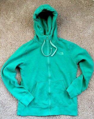 The North Face Women's Size Medium Hooded Jacket Teal Green Zip up