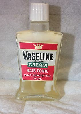 "VINTAGE Full Bottle Of ""Vaseline Cream Hair Tonic"""
