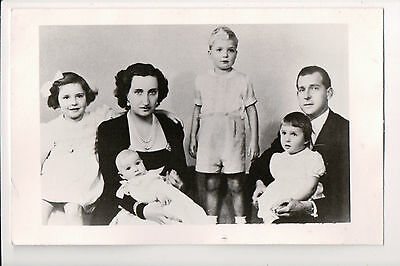 Photo Card Infante Juan, Count of Barcelona & Countess Maria Mercedes & Family