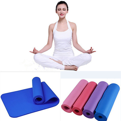 Durable 8-10mm Yoga Mat Non-slip Thick Pad Health Lose Weight Fitness Cushion