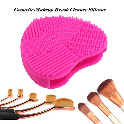 Women Silicone Makeup Brush Cleaner Washing Scrubber Board Cleaning Mat Tool Pad
