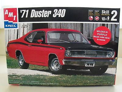 Amt / Ertl (1971) '71 Plymouth Duster 340 (Purple) Model Kit (Contents Sealed)
